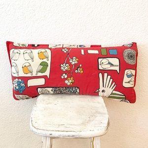 MCM Midcentury Modern Red Bird Throw Pillow